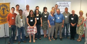 Some of Hamwic's members at a recent meeting