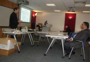 During the Southampton Solent University presentation