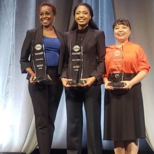 The top three winners: Fain Taylor, Smith and Su